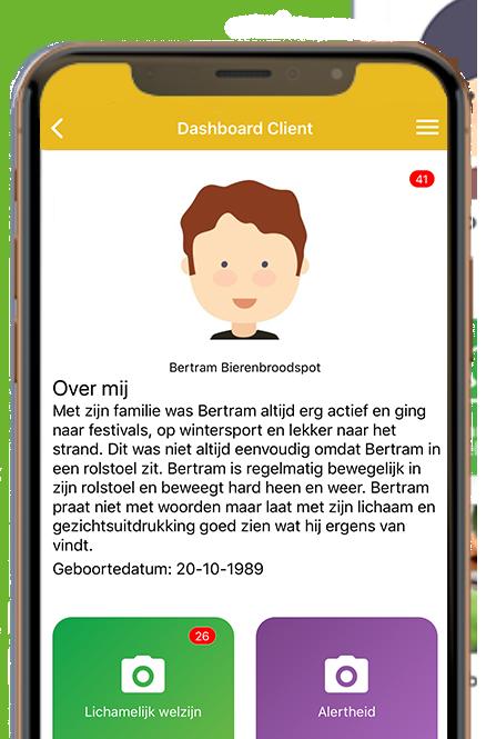 Gehandicaptenzorg voor Bertram in-app afbeelding