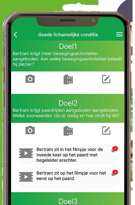 Gehandicaptenzorg app SamenZien in-app afbeelding van een categorie